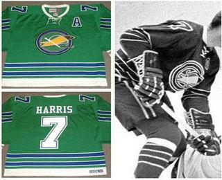 d5cc6d3e2 walt mckechnie california golden seals hockey jersey  mens oakland seals 7  billy harris 1967 ccm vintage throwback home green jersey