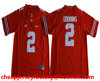 info for cff8c f8d04 Men's Ohio State Buckeyes #2 J. K. Dobbins Red Limited ...
