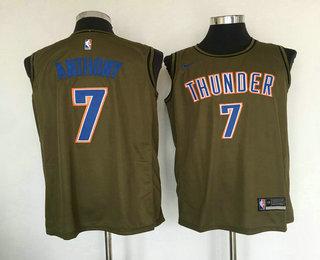 size 40 f1f37 deb80 Men's Oklahoma City Thunder #0 Russell Westbrook Grey NBA ...