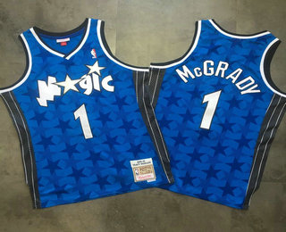 5261b298521 Men s Orlando Magic  1 Tracy McGrady Blue 2000-01 Hardwood Classics Soul AU  Throwback