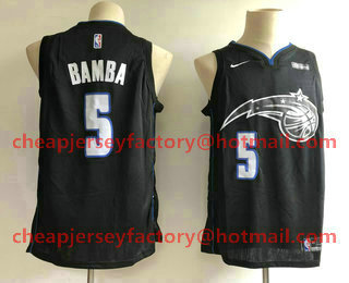 Men s Orlando Magic  5 Mohamed Bamba NEW Black 2019 Nike City Edition  Swingman Stitched NBA Jersey 5313b06dd