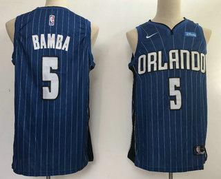 Men s Orlando Magic  5 Mohamed Bamba Royal Blue 2018 Nike Swingman Stitched NBA  Jersey ad0589347