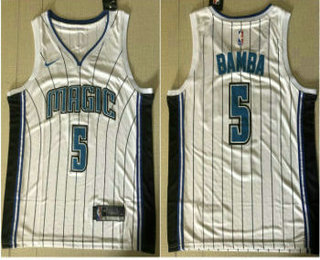 2526441b543 Men s Orlando Magic  5 Mohamed Bamba NEW Black 2019 Nike City ...