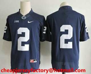 Men s Penn State Nittany Lions  2 Marcus Allen No Name Navy Blue Limited  College Football 0ac33ebfc