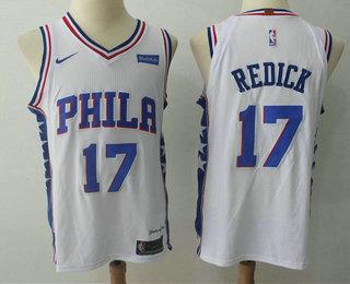 Men s Philadelphia 76ers  17 J.J. Redick White 2017-2018 Nike Authentic  Stubhub Stitched NBA c76a9a885