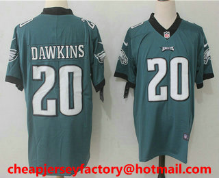 652a8d9a3b3 ... Road White Mens Philadelphia Eagles 20 Brian Dawkins Midnight Green  2017 Vapor Untouchable Stitched NFL Nike Limited .