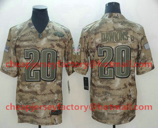 0de992175f5 Men's Philadelphia Eagles #20 Brian Dawkins Nike Camo 2018 Salute to Service  Stitched NFL Limited