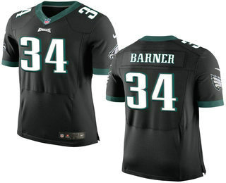 Men's Philadelphia Eagles #34 Kenjon Barner Black Alternate NFL Nike Elite Jersey