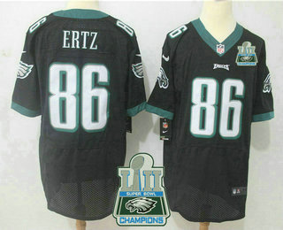 ebf41944d ... Nike Elite Jersey   22.5. Men s Philadelphia Eagles  86 Zach Ertz Black  2018 Super Bowl LII Champions Patch Alternate NFL