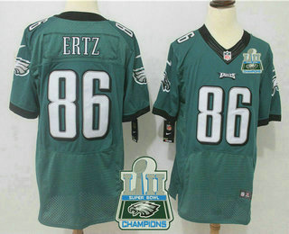 2423e91e4 ... NFL Nike Elite Jersey   22.5. Men s Philadelphia Eagles  86 Zach Ertz Midnight  Green 2018 Super Bowl LII Champions Patch Team