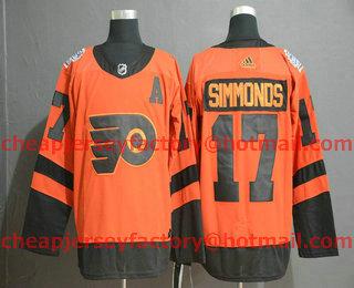 new arrival 14c9d 472e0 Men's Philadelphia Flyers #17 Wayne Simmonds Orange With A ...