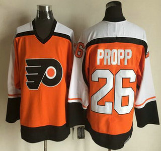 Men's Philadelphia Flyers #26 Brian Propp 1997-98 Black CCM Vintage Throwback Jersey