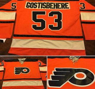 Men s Philadelphia Flyers  53 Shayne Gostisbehere Reebok Premier Orange  Alternate Jersey dc07fe7d0