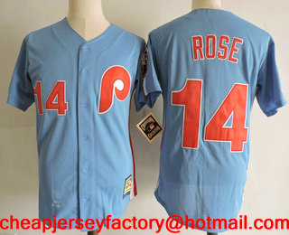 ff39ece277b ... jersey mens philadelphia phillies 14 pete rose lilght blue throwback  1980 world series champions stitched mlb