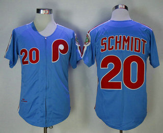 75ad31094 ... coupon jersey mens philadelphia phillies 20 mike schmidt lilght blue  throwback 1980 world series champions stitche