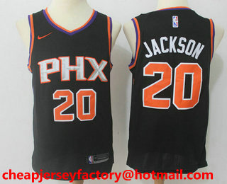 Men s Phoenix Suns  20 Josh Jackson New Black 2017-2018 Nike Swingman  Stitched NBA cd0480d3b