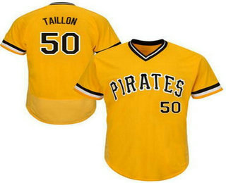 Men's Pittsburgh Pirates #50 Jameson Taillon Yellow Pullover 2016 Flexbase Majestic Baseball Jersey
