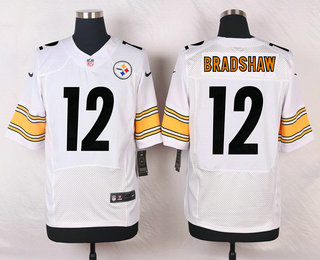 ee8bf4ce9 Men s Pittsburgh Steelers  12 Terry Bradshaw White Retired Player NFL Nike  Elite Jersey