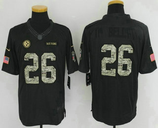 7e739542e NFL Nike Limited Jersey 21. Mens Pittsburgh Steelers 26 LeVeon Bell Black  ...