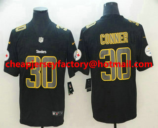 47a61277b8d Men s Pittsburgh Steelers  30 James Conner Black 2018 Fashion Impact Color  Rush Stitched NFL Nike