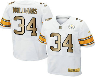 2694f50aa ... coupon for mens pittsburgh steelers 34 deangelo williams white with gold  stitched nfl nike elite jersey
