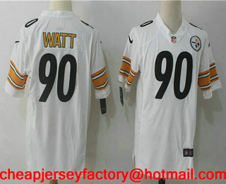 Cheap Men's Pittsburgh Steelers #30 James Conner White Road Stitched NFL  supplier