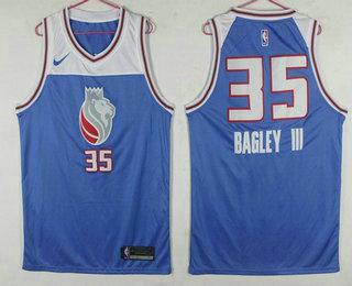 804f4237a850 Men s Sacramento Kings  35 Marvin Bagley III Blue 2017-18 Nike City Edition  Swingman Jersey