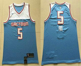 0149107395b9 Men s Sacramento Kings  5 De Aaron Fox Blue 2017-18 Nike City Edition