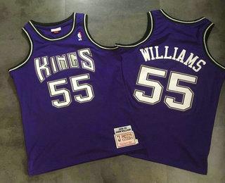 de23376ea39 Men s Sacramento Kings  55 Jason Williams AU Swingman New Purple Jersey