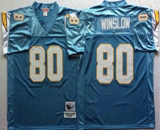 e0552c0b san diego chargers 80 kellen winslow dark blue throwback jersey