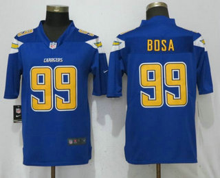 d11d51a4bd2 Men s Los Angeles Chargers  99 Joey Bosa Royal Blue 2017 Color Rush  Stitched NFL Nike