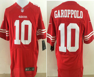 cb95b63913d Men's San Francisco 49ers #10 Jimmy Garoppolo Scarlet Red Team Color  Stitched NFL Nike Elite