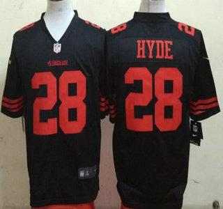 Men's San Francisco 49ers #38 Jarryd Hayne Black Alternate 2015 NFL Nike Game Jersey