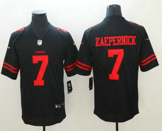 3f2161020 Men s San Francisco 49ers  7 Colin Kaepernick Black 2017 Vapor Untouchable  Stitched NFL Nike Limited