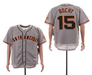 3448425ac50 Men s San Francisco Giants  15 Bruce Bochy Gray Road Stitched MLB Cool Base  Jersey