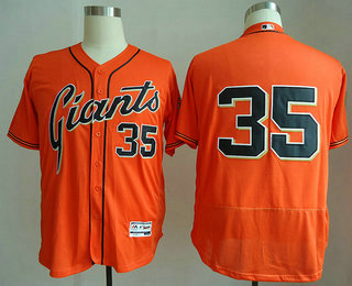 69175ada get mens san francisco giants 35 brandon crawford no name orange stitched  mlb flex base jersey