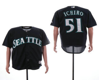 f76cf0dad35 Men s Seattle Mariners  51 Ichiro Suzuki Navy Blue Stitched MLB Cool Base  Jersey