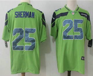 ... 12th Fan Limited Black 2016 Salute to Service NFL Jersey Mens Seattle  Seahawks 25 Richard Sherman Green 2017 Vapor Untouchable Stitched NFL Nike  Limited ... 7ba292b10