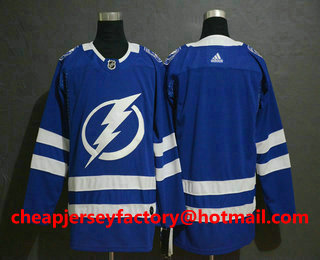 501faf02b Men s Tampa Bay Lightning Blank Blue Drift Fashion Adidas Stitched NHL  Jersey