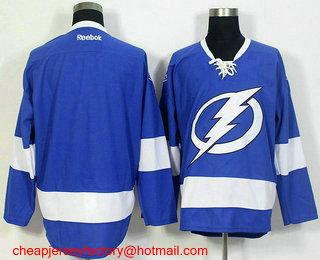 Men s Tampa Bay Lightning Blank Royal Blue Home Stitched NHL Reebok Hockey  Jersey d0b7c760e