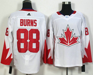 Men's Team Canada #88 Brent Burns White 2016 World Cup of Hockey Game Jersey