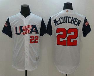 dc7f94820e7 Mens Team USA Baseball Majestic 22 Andrew McCutchen White 2017 World  Baseball Classic Stitched Authentic