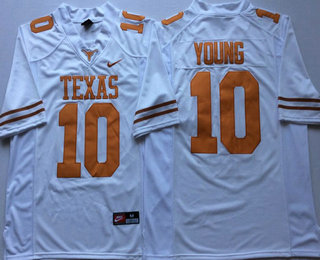 b97c71aae usa mens texas longhorns 10 vince young white stitched college football  nike ncaa jersey bde4f 94e2a