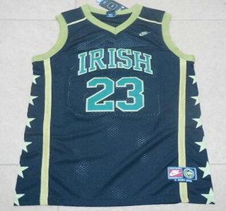 949eb1b72 ... Mens The Fighting Irish 23 Lebron James Black Soul Swingman High School  Basketball Jersey ...