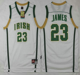 best website 7dc53 02696 canada ncaa basketball jerseys irish high school 23 lebron ...