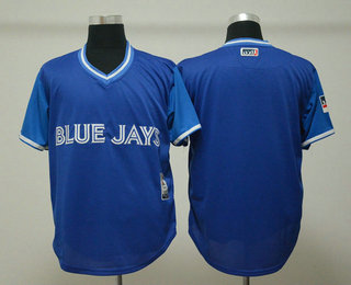 786b40ba3 Men s Toronto Blue Jays Blank Royal 2018 LLWS Players Weekend Stitched  Nickname Jersey