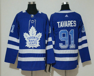 90be89236 Men s Toronto Maple Leafs  91 John Tavares Blue Drift Fashion Adidas Jersey