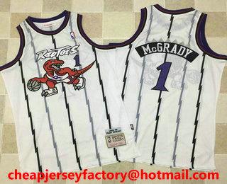 various colors c479c 495a6 Men's Toronto Raptors #1 Tracy McGrady 1998-99 White ...