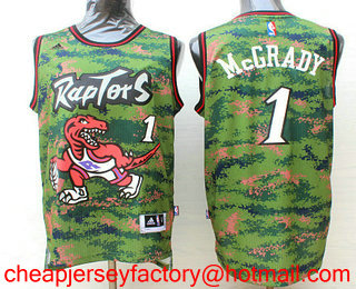 c4559d106 Men s Toronto Raptors  1 Tracy McGrady Revolution 30 Swingman 2016 Camo  Jersey