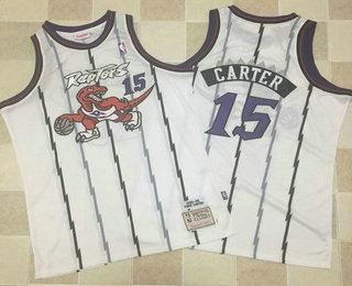 ... mens toronto raptors 15 vince carter 1998 99 white hardwood classics  soul swingman throwback jersey 4af093a73